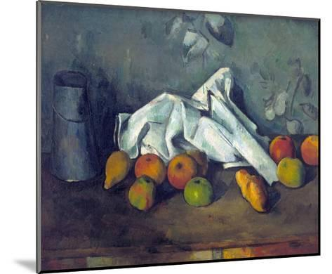 Bo?te ? Lait Et Pommes (Milk Can and Apples)-Paul C?zanne-Mounted Giclee Print