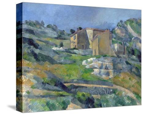 Houses in Provence: the Riaux Valley Near L'Estaque-Paul C?zanne-Stretched Canvas Print