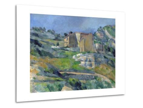 Houses in Provence: the Riaux Valley Near L'Estaque-Paul C?zanne-Metal Print