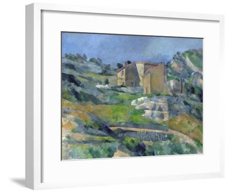 Houses in Provence: the Riaux Valley Near L'Estaque-Paul C?zanne-Framed Art Print