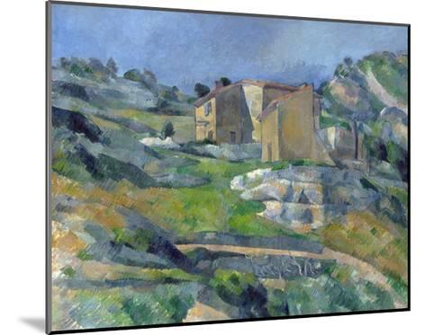 Houses in Provence: the Riaux Valley Near L'Estaque-Paul C?zanne-Mounted Giclee Print