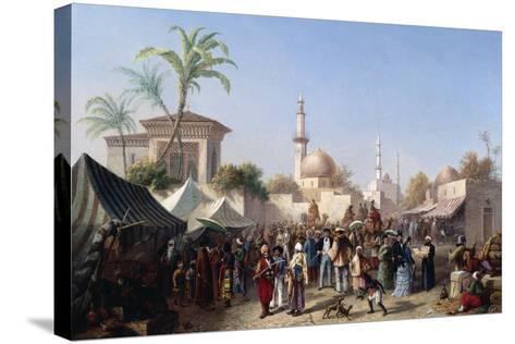 The Turkish Market-Rudolf von Alt-Stretched Canvas Print