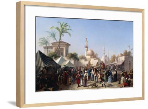 The Turkish Market-Rudolf von Alt-Framed Art Print