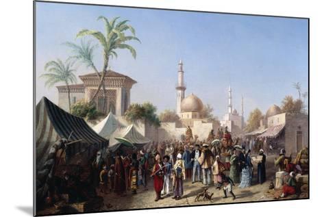 The Turkish Market-Rudolf von Alt-Mounted Giclee Print