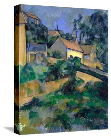 La Route Tournante ? Montgeroult (Turning Road at Montgeroult)-Paul C?zanne-Stretched Canvas Print