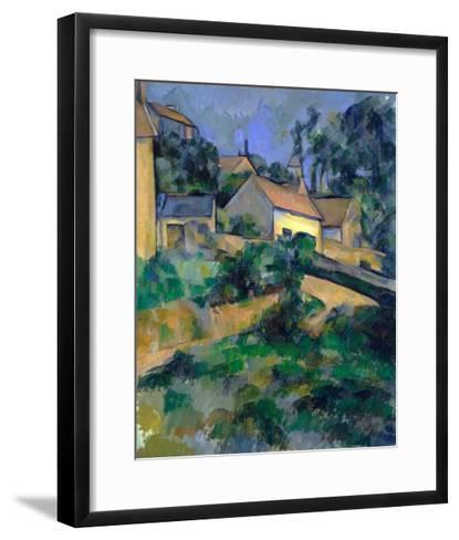 La Route Tournante ? Montgeroult (Turning Road at Montgeroult)-Paul C?zanne-Framed Art Print