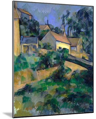 La Route Tournante ? Montgeroult (Turning Road at Montgeroult)-Paul C?zanne-Mounted Giclee Print
