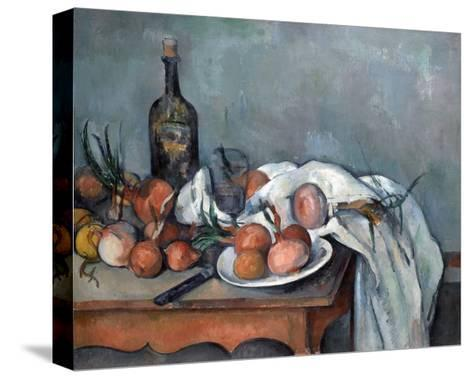 Nature Morte Aux Oignons (Still Life with Onions)-Paul C?zanne-Stretched Canvas Print
