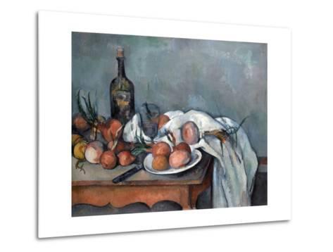 Nature Morte Aux Oignons (Still Life with Onions)-Paul C?zanne-Metal Print