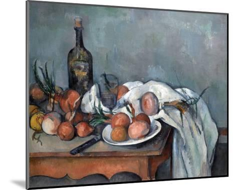 Nature Morte Aux Oignons (Still Life with Onions)-Paul C?zanne-Mounted Giclee Print