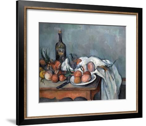 Nature Morte Aux Oignons (Still Life with Onions)-Paul C?zanne-Framed Art Print
