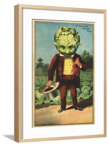 1st Premium Cabbage Head Trade Card--Framed Art Print