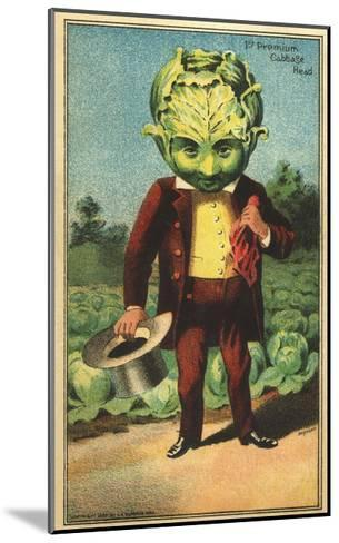 1st Premium Cabbage Head Trade Card--Mounted Giclee Print