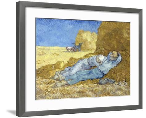 The Siesta (After Millet)-Vincent van Gogh-Framed Art Print