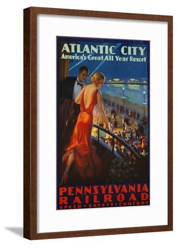 Atlantic City Pennsylvania Railroad Poster--Framed Art Print