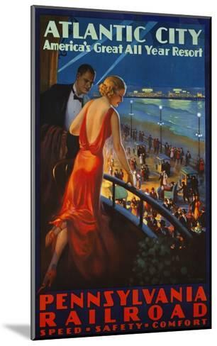 Atlantic City Pennsylvania Railroad Poster--Mounted Giclee Print