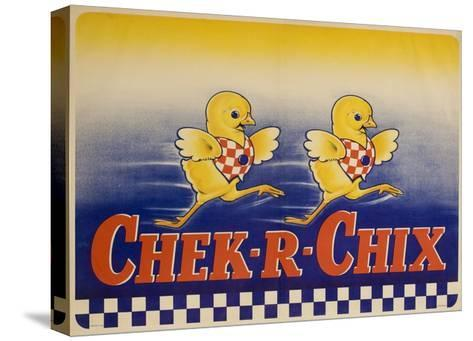 Chek-R-Chix American Feed Advertising Poster--Stretched Canvas Print