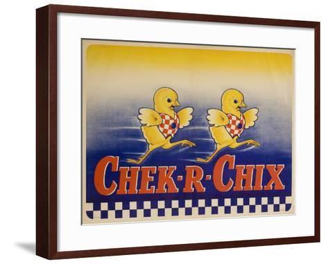 Chek-R-Chix American Feed Advertising Poster--Framed Art Print