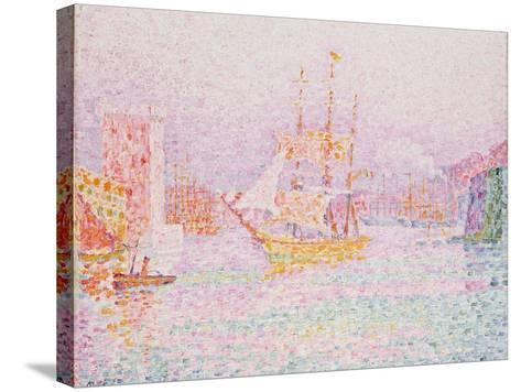 The Harbour at Marseilles-Paul Signac-Stretched Canvas Print