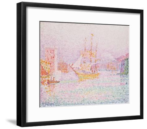 The Harbour at Marseilles-Paul Signac-Framed Art Print