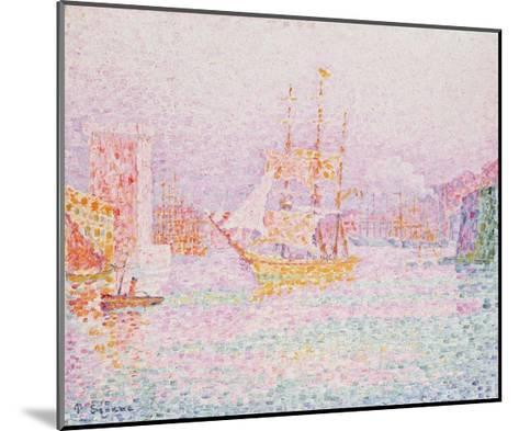 The Harbour at Marseilles-Paul Signac-Mounted Giclee Print
