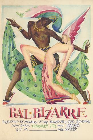 Bal Bizarre Poster--Stretched Canvas Print