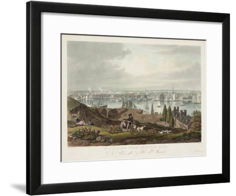 Baltimore from Federal Hill--Framed Art Print