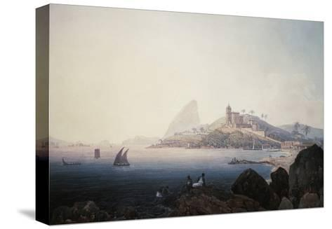 View of the Gloria Church and Sugarloaf Mountain, Rio De Janeiro-Thomas Ender-Stretched Canvas Print
