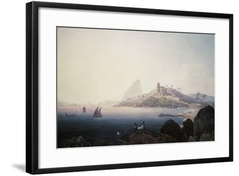 View of the Gloria Church and Sugarloaf Mountain, Rio De Janeiro-Thomas Ender-Framed Art Print
