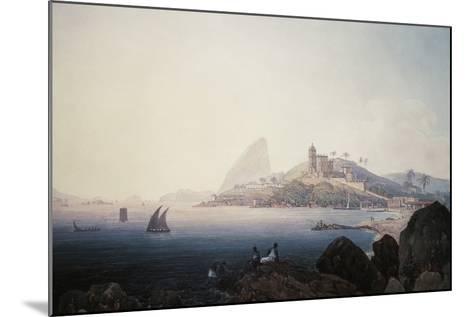 View of the Gloria Church and Sugarloaf Mountain, Rio De Janeiro-Thomas Ender-Mounted Giclee Print