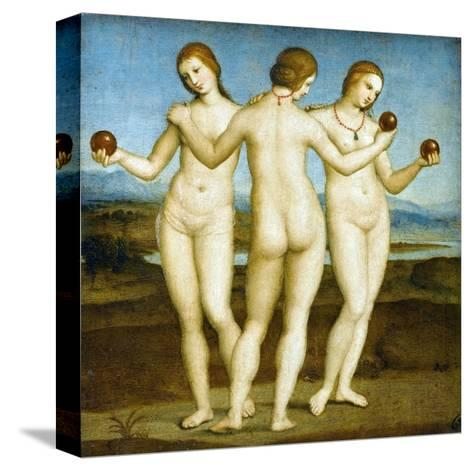 The Three Graces-Raphael-Stretched Canvas Print