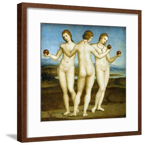 The Three Graces-Raphael-Framed Art Print