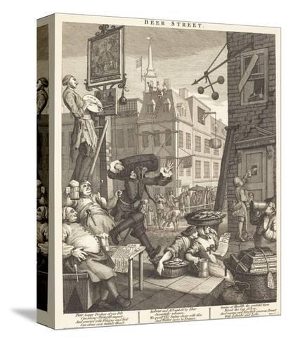 Beer Street-William Hogarth-Stretched Canvas Print