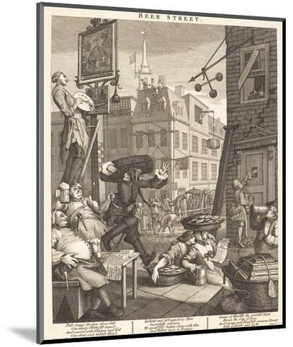 Beer Street-William Hogarth-Mounted Giclee Print