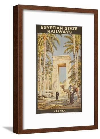 Egyptian State Railways Travel Poster Karnak--Framed Art Print