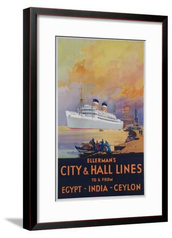 Ellerman's City and Hall Lines Cruise Poster--Framed Art Print