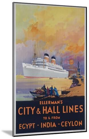 Ellerman's City and Hall Lines Cruise Poster--Mounted Giclee Print