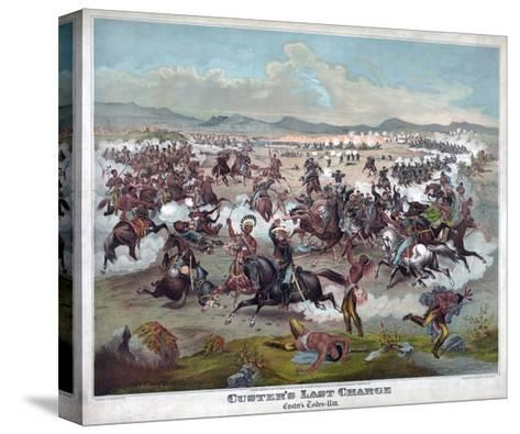Custer's Last Charge--Stretched Canvas Print
