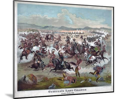 Custer's Last Charge--Mounted Giclee Print