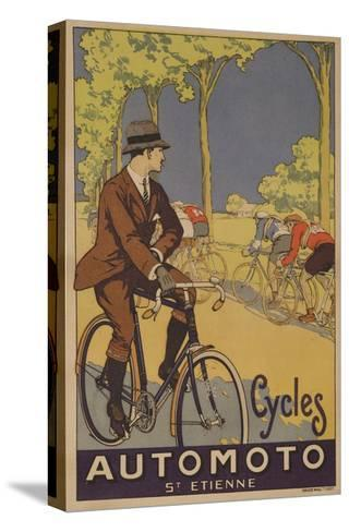 Cycles Automoto St Etienne French Advertising Poster--Stretched Canvas Print