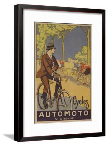 Cycles Automoto St Etienne French Advertising Poster--Framed Art Print