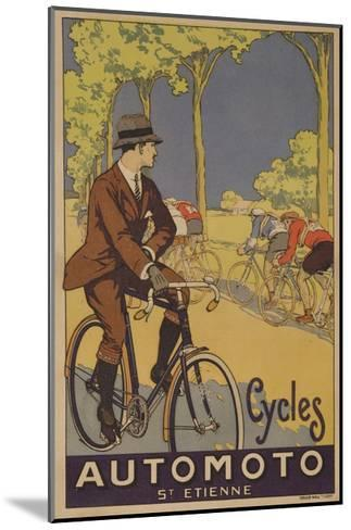 Cycles Automoto St Etienne French Advertising Poster--Mounted Giclee Print