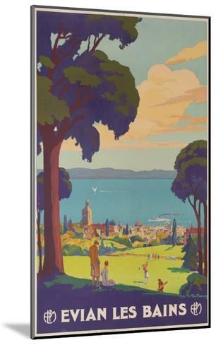 Evian Les Bains, French Plm Railway Gold Poster--Mounted Giclee Print
