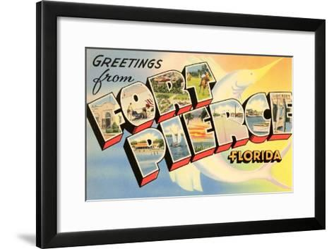 Greetings from Fort Pierce, Florida--Framed Art Print