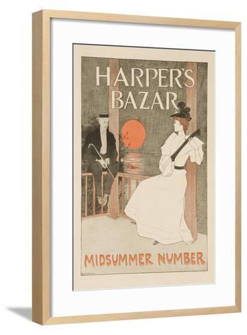 Harper's Bazar Midsummer Number Poster--Framed Art Print
