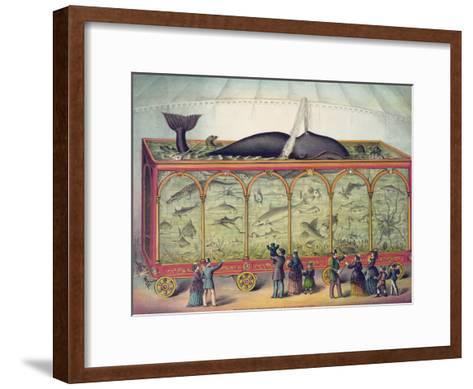 Lithograph of 19th Century Traveling Aquarium--Framed Art Print