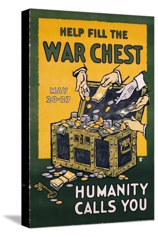 Help Fill the War Chest Poster--Stretched Canvas Print