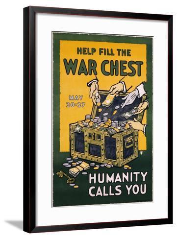 Help Fill the War Chest Poster--Framed Art Print