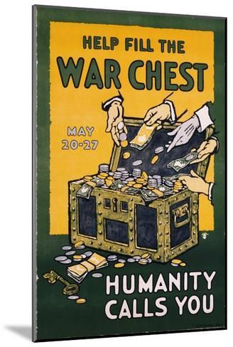 Help Fill the War Chest Poster--Mounted Giclee Print