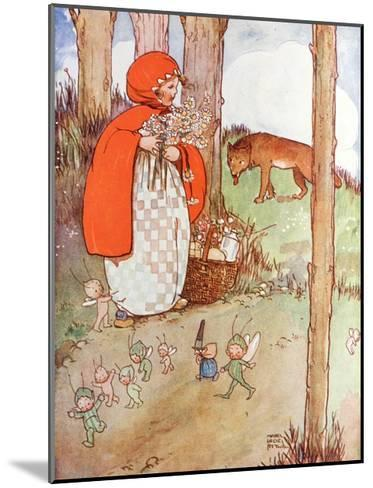 Little Red Riding Hood in the Forest--Mounted Giclee Print